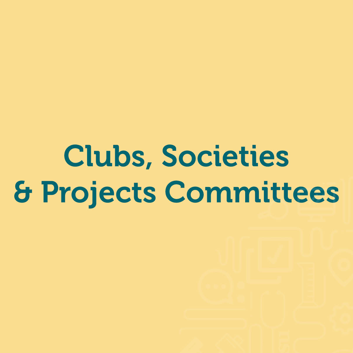 Clubs, Societies & Projects roles